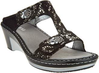 Alegria Leather Slip-on Sandals w/ Strap Details - Lara