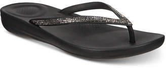 FitFlop Iqushion Sparkle Flip-Flop Sandals Women Shoes
