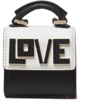 Les Petits Joueurs Nano Alex Black Widow Charm for Handbag, Black/White