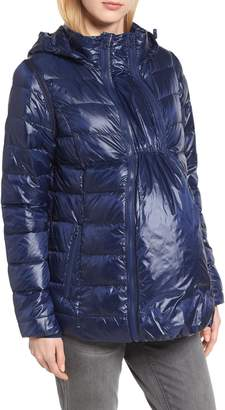 Modern Eternity Lightweight Puffer Convertible 3-in-1 Maternity Jacket