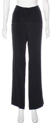 Derek Lam Silk Mid-Rise Wide-Leg Pants