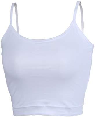 ade7442c5a Moxeay Sexy Women U-Neck Tank Tops Bustier Vest Crop Bralette
