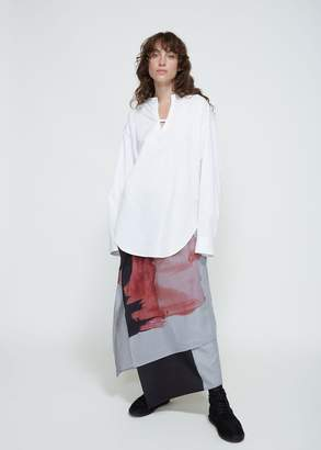Yohji Yamamoto Y's by Long Sleeve Collarless Blouse