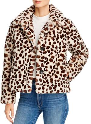 Mother The Ride-A-Long Faux Fur Jacket