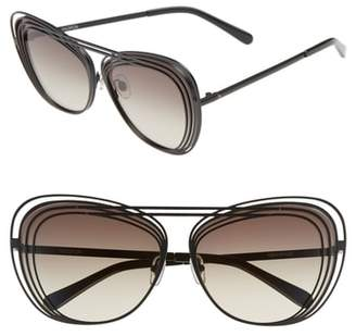 Wildfox Couture Hermitage 61mm Cat Eye Sunglasses