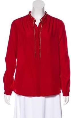 MICHAEL Michael Kors Chain-Link Button-Up Blouse