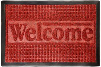 Lavish Home Indoor/Outdoor Nonslip Rubber Door/Welcome Mat, Red