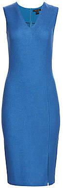 St. John Women's Sarga Stretch Wool V-Neck Sleeveless Sheath Dress