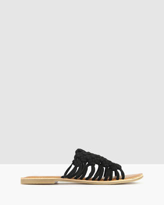betts Tarlee Woven Leather Sandals