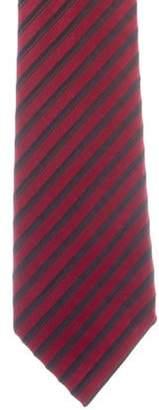 Charvet Stripped Pattern Silk Jacquard Tie