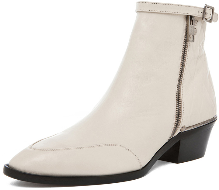 Chloé Quilted Back Bootie in Beige