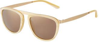 Smoke X Mirrors Pusherman Acetate/Stainless Steel Square Sunglasses