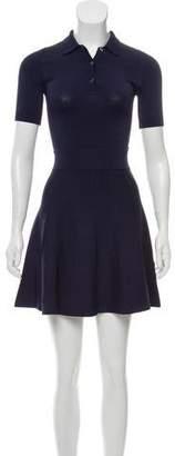 A.L.C. Short Sleeve A-Line Dress
