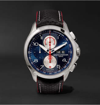 Baume & Mercier Clifton Club Shelby Cobra Chronograph 44mm Stainless Steel and Leather Watch