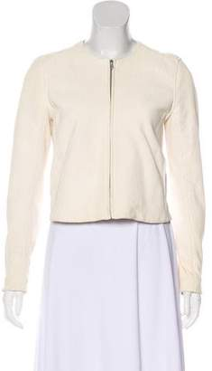 Theory Leather Honeycomb Patterned Jacket