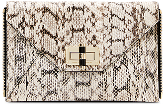 Agent Bianca Snake Zip On Clutch $198 thestylecure.com