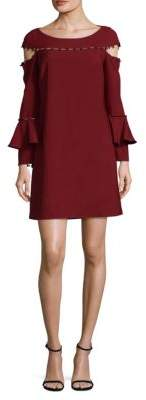 Laundry by Shelli Segal Button-Down Cold Shoulder Dress