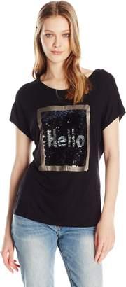 Desigual Women's Hello Knitted Sleeveless T-Shirt, black, XL