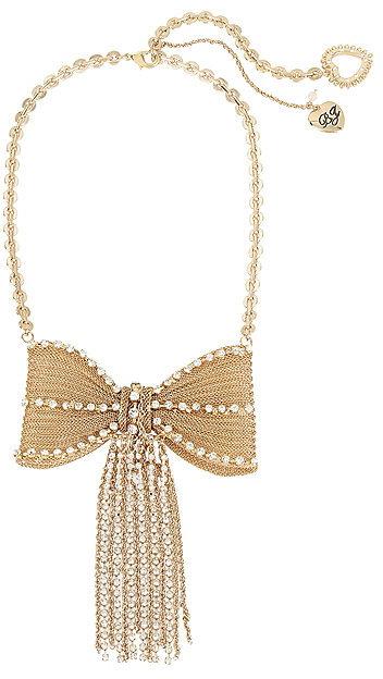 Betsey JohnsonAnchors Away Big Bow Necklace