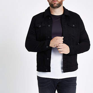 River Island Big and Tall black denim jacket