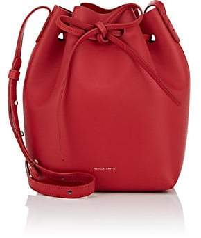 Mansur Gavriel Women's Leather Mini Bucket Bag - Red