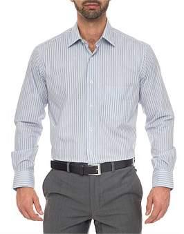 Ganton Patrick Classic Fit - Cotton/Polyester Stripe Shirt