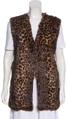 Dries Van Noten Fur-Trimmed Open Front Vest w/ Tags