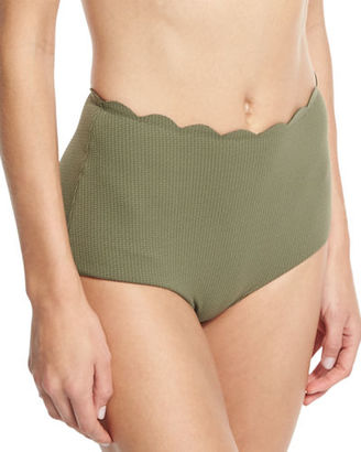 Marysia Palm Springs High-Waist Swim Bottom $150 thestylecure.com
