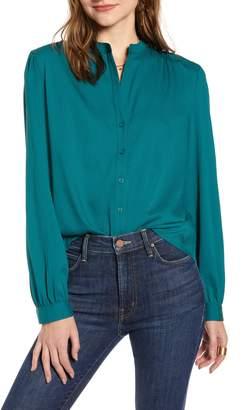 Treasure & Bond Tonal Stripe Long Sleeve Button-Up Shirt