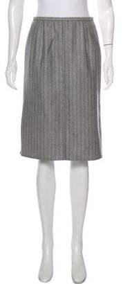 Valentino Wool Striped Skirt