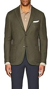 "Boglioli Men's ""K Jacket"" Cotton-Linen Two-Button Sportcoat - Olive"