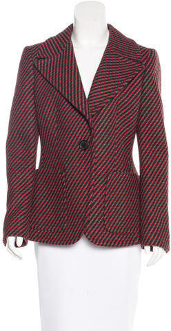 prada Prada Plaid Virgin Wool Blazer
