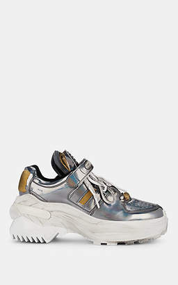 Maison Margiela Women's Leather Chunky Sneakers - Silver