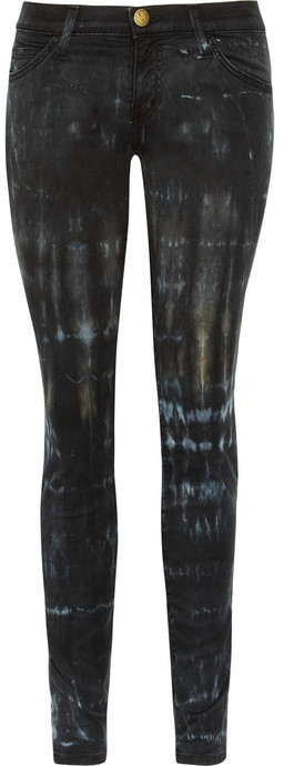 Current/Elliott The Ankle tie-dye low-rise skinny jeans