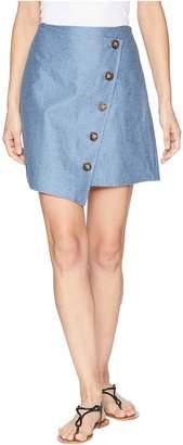 J.o.a. Angle Buttoned Mini Skirt Women's Skirt