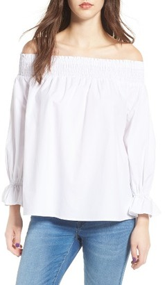 Women's Soprano Bow Off-The-Shoulder Top $45 thestylecure.com