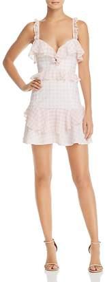 For Love & Lemons Dixie Ruffled Gingham Dress