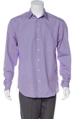 Armani Collezioni Gingham Dress Shirt
