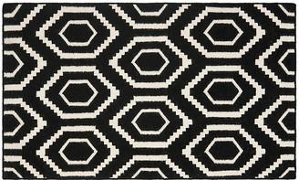 One Kings Lane Ampara Dhurrie - Black/Ivory