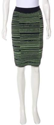 A.L.C. Striped Bodycon Skirt