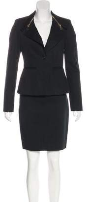 Givenchy Twill Notch-Lapel Skirt Suit