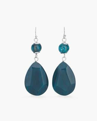 Chico's Chicos Teal Stone Drop Earrings