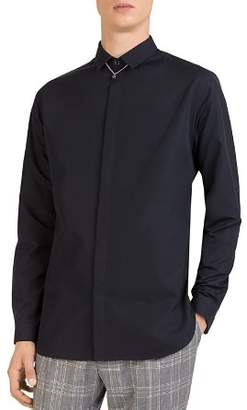 The Kooples Faille Slim Fit Button-Down Shirt