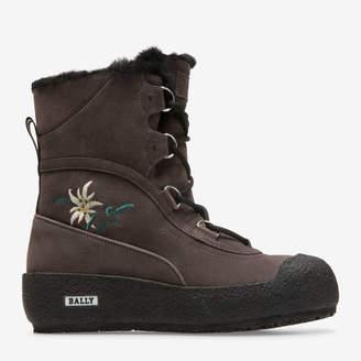 Bally Celinia Grey, Women's calf suede boots in dark grey