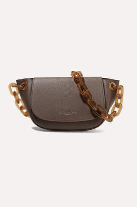 Simon Miller Bend Textured-leather Shoulder Bag - Dark brown