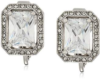 Carolee Rectangular Button Clip-On Earrings
