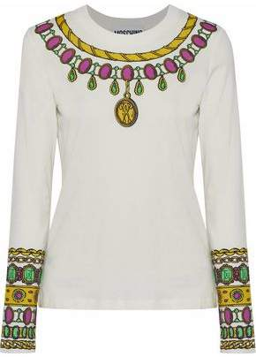 Moschino Printed Cotton-Jersey Top
