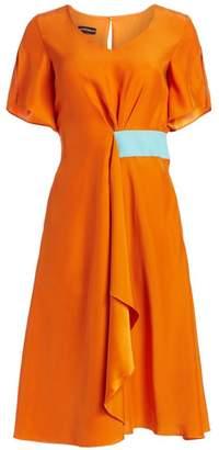 Emporio Armani Short Sleeve Silk Satin Dress