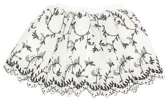 Popatu Embroidered Tulle Skirt