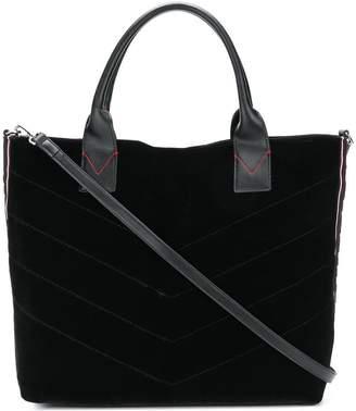 Pinko large velvet shopping bag